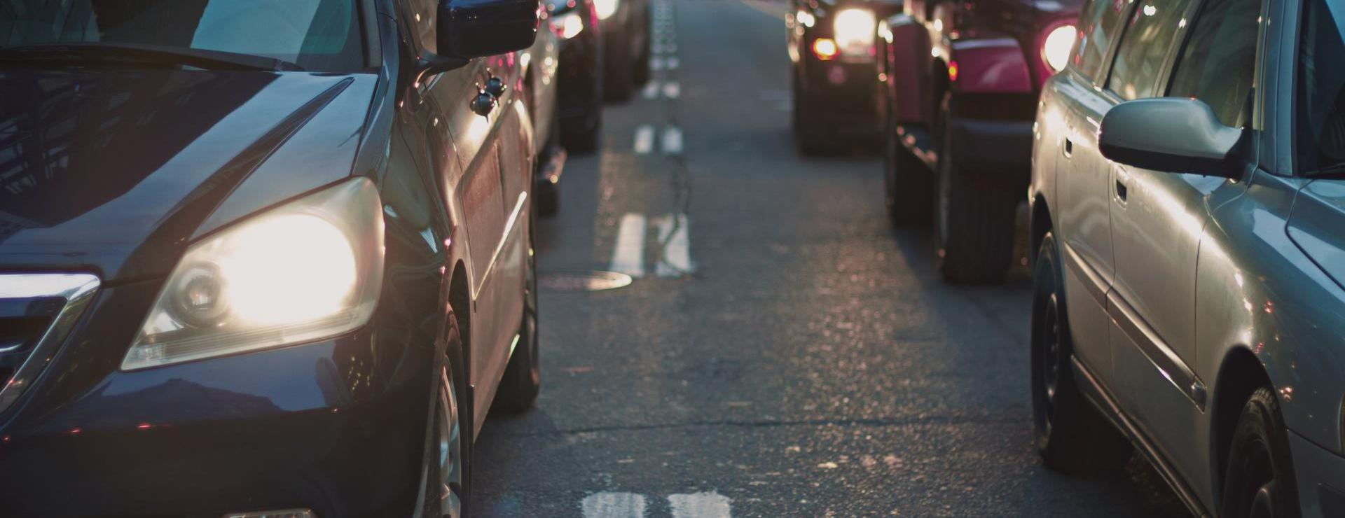 Vehicles on roadway