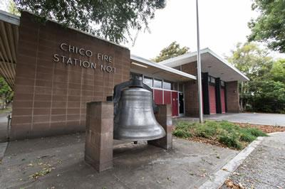 Front of Chico Fire Station #1