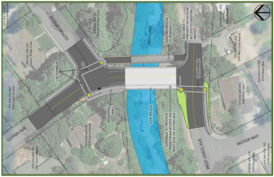 Image showing the proposed build of the new Guynn Bridge.