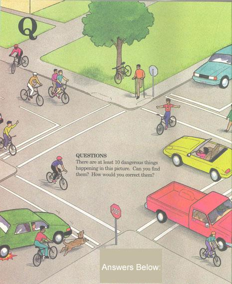 puzzle about bicycle safety