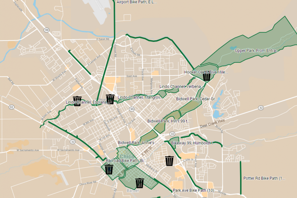 Chico Spring Clean Map