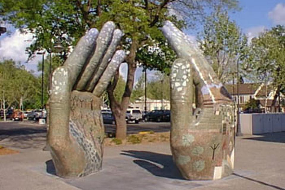 Our Hands Sculpture