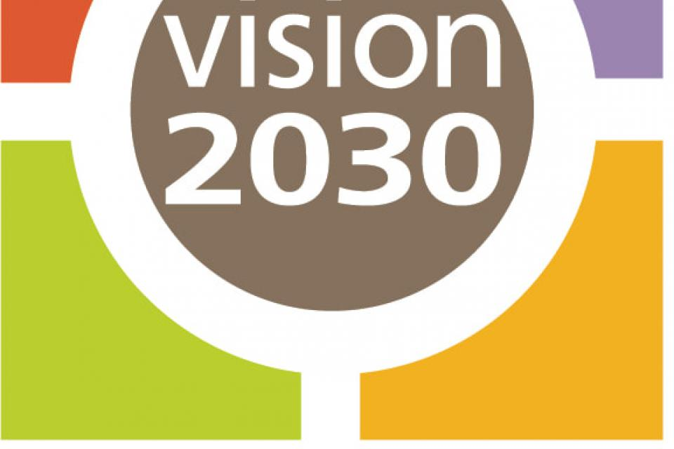 Multicolor Team Chico logo reading vision 2030
