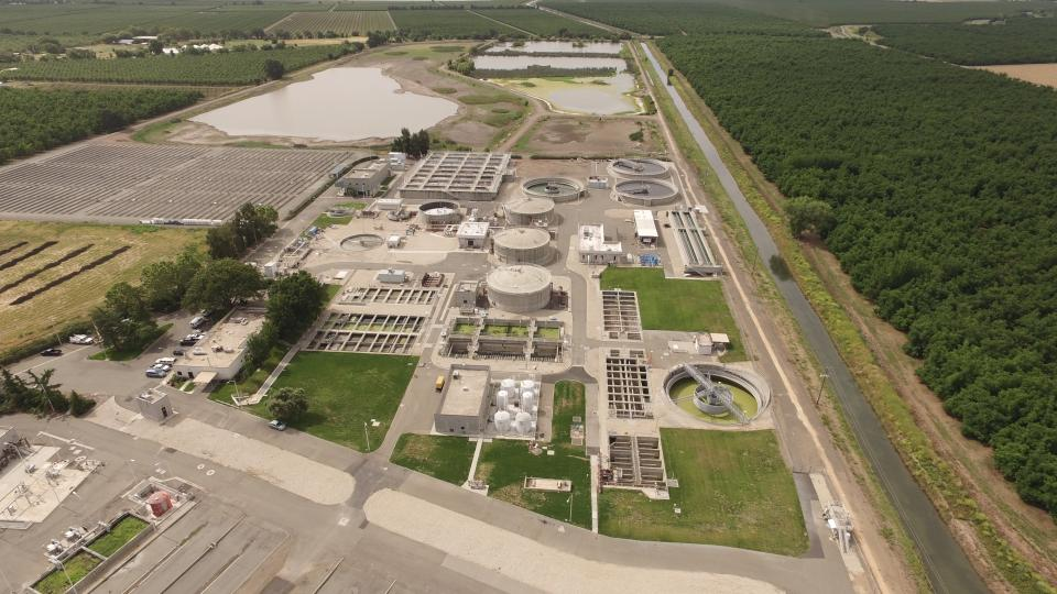 Aerial photo of Water Control Plant
