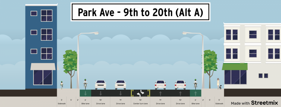 Rendering of roadway details for project